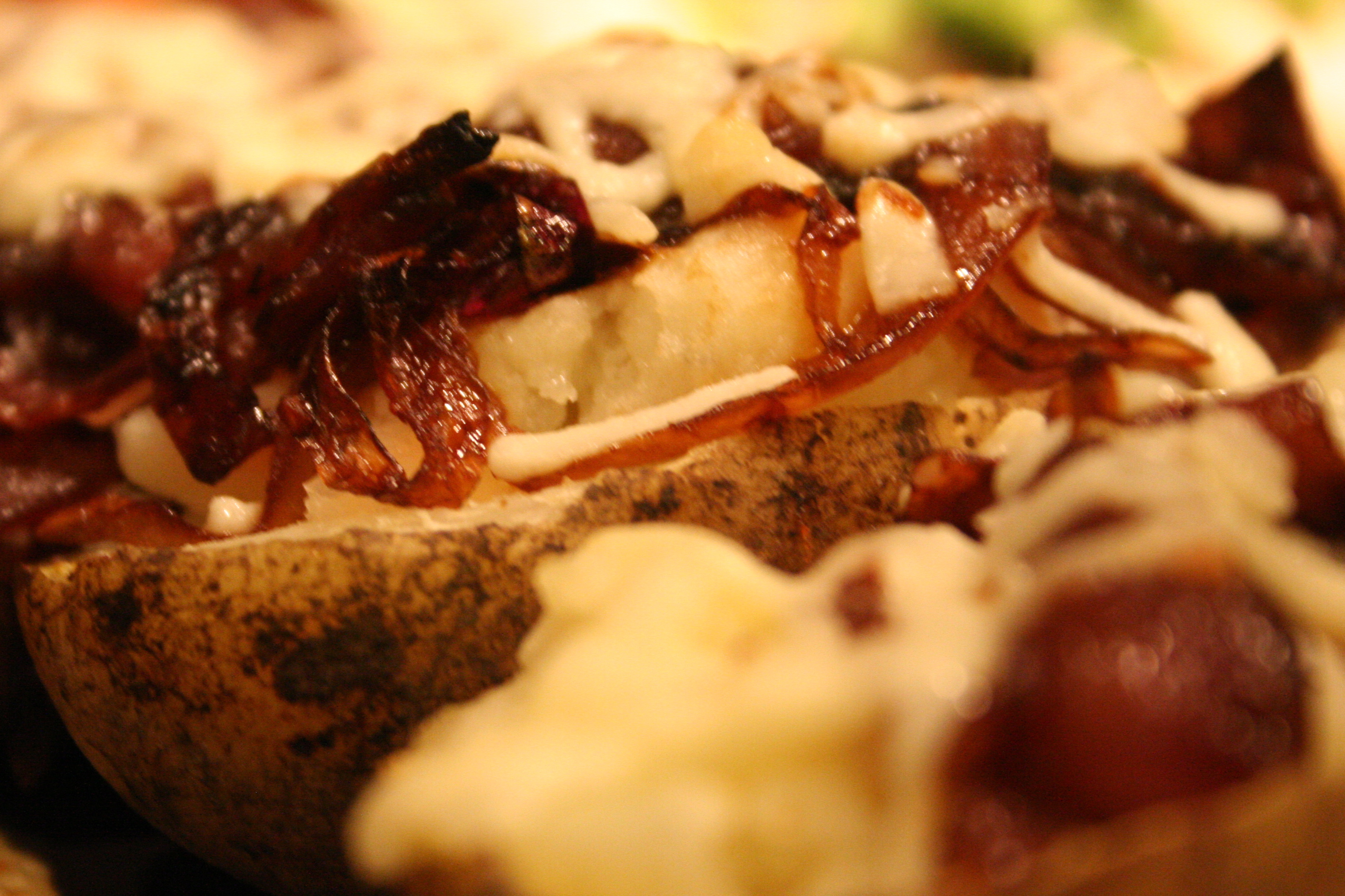 mr. potato head. [stuffed baked potato w. caramelized ...