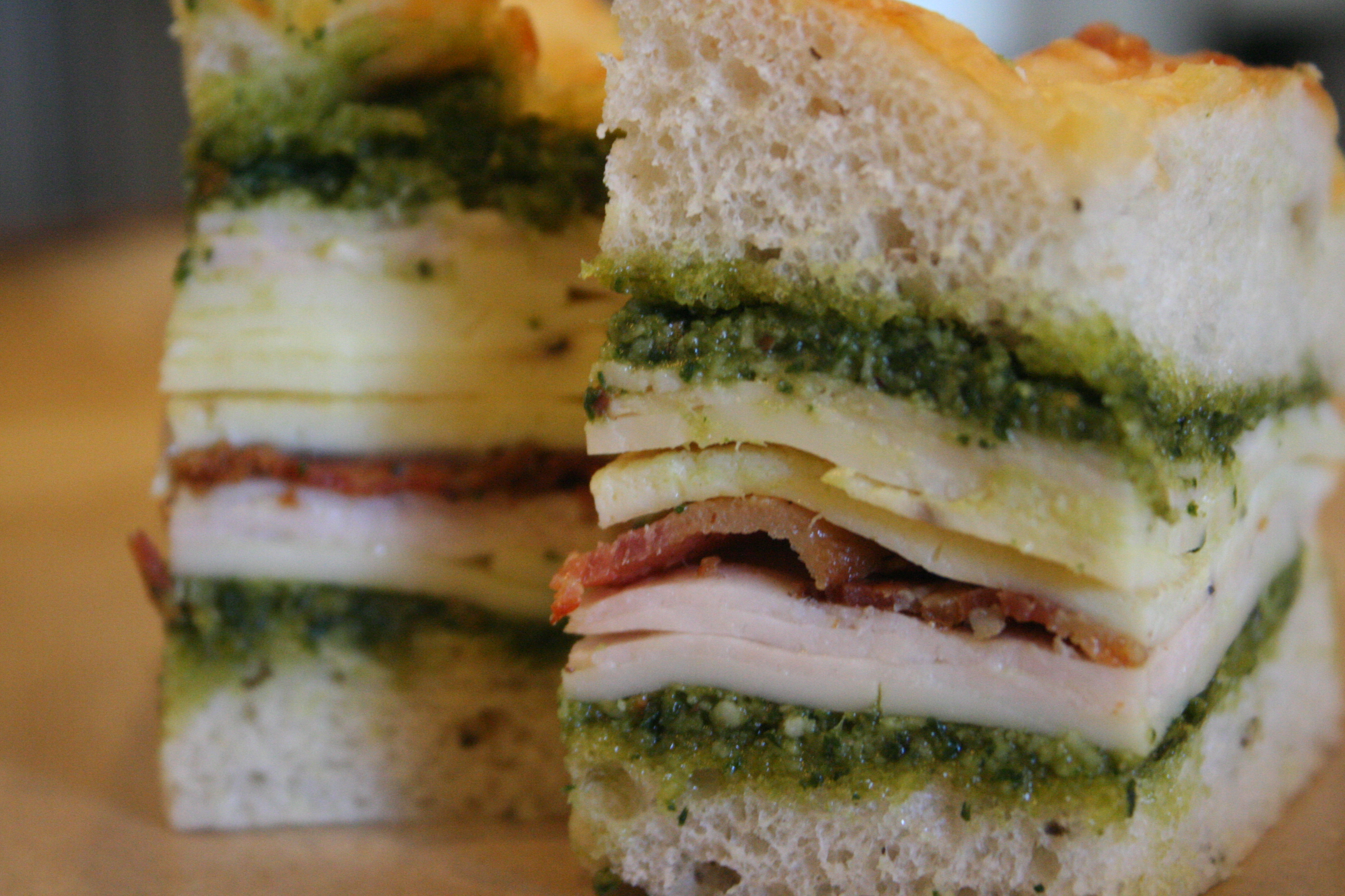 presto pesto. [mini Italian club sandwiches]