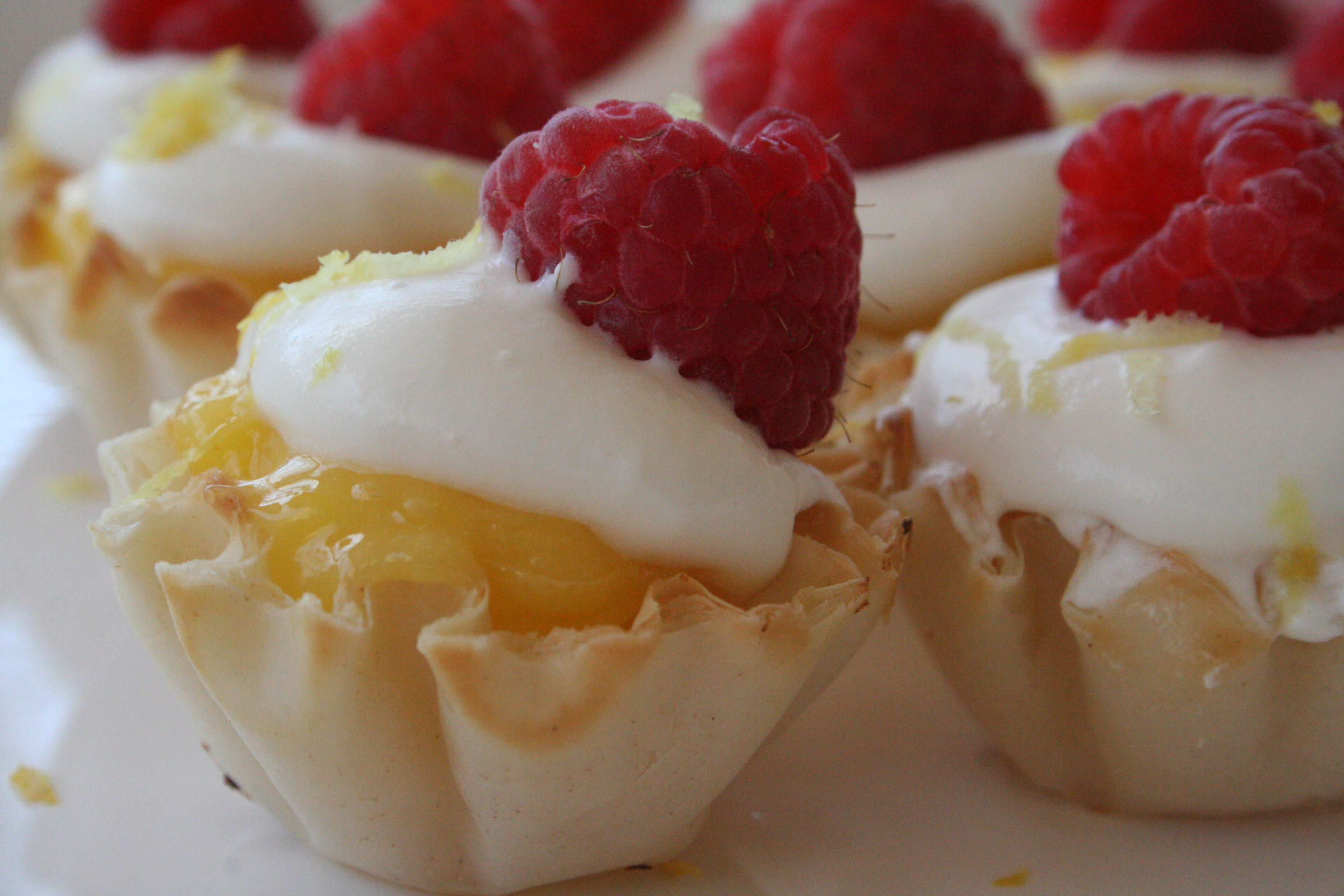 Freshly Squeezed Mini Lemon Curd Phyllo Cups Topped W Homemade Whipped Cream Amp Fresh