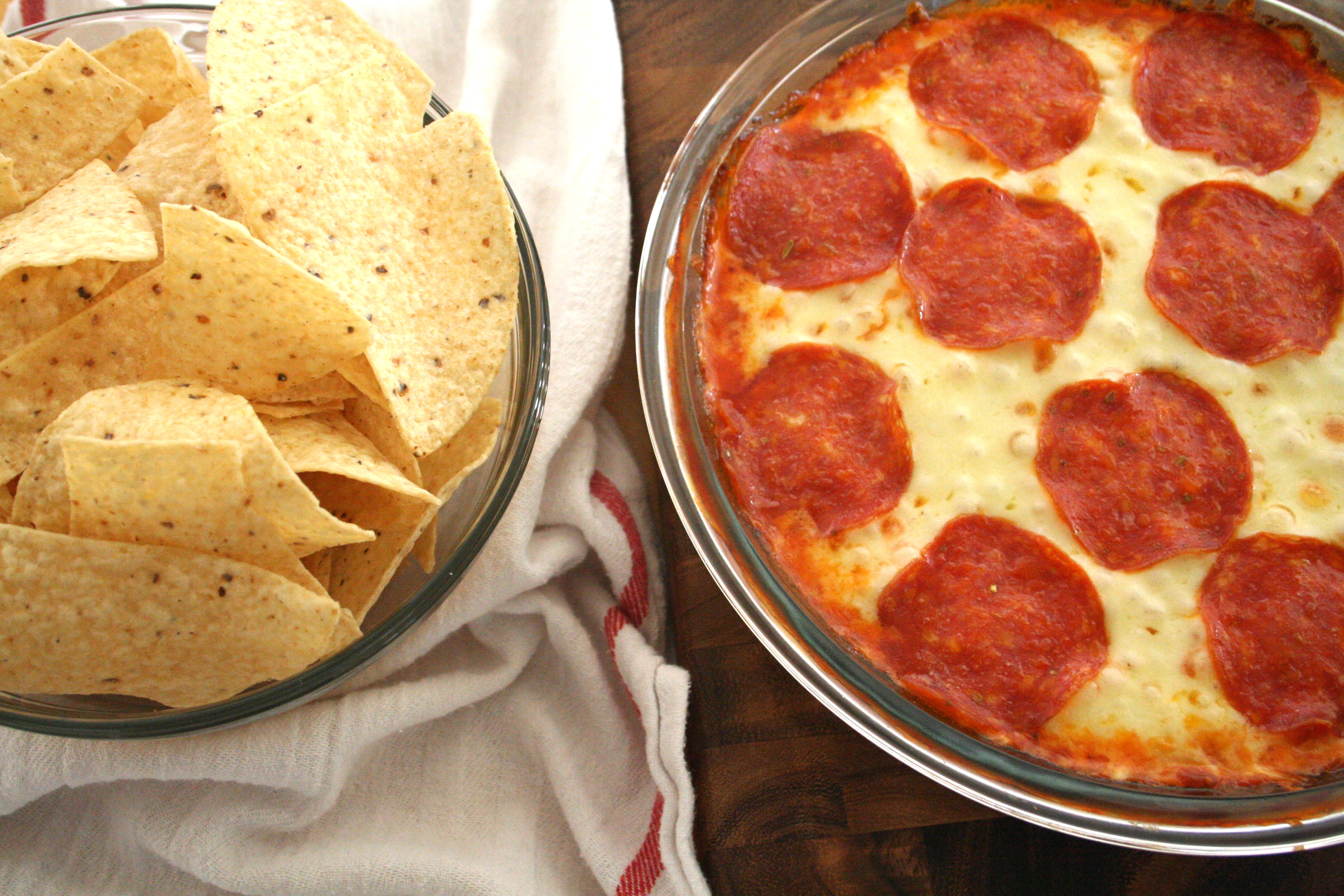 game day ready. [pizza dip] - sweet caroline's cooking