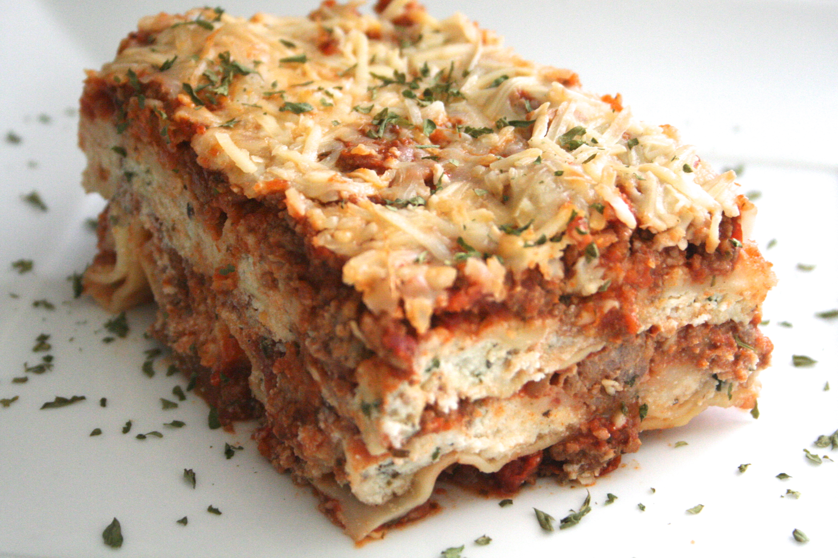 dinner for 12. [three-cheese lasagna w. bolognese sauce] - sweet ...