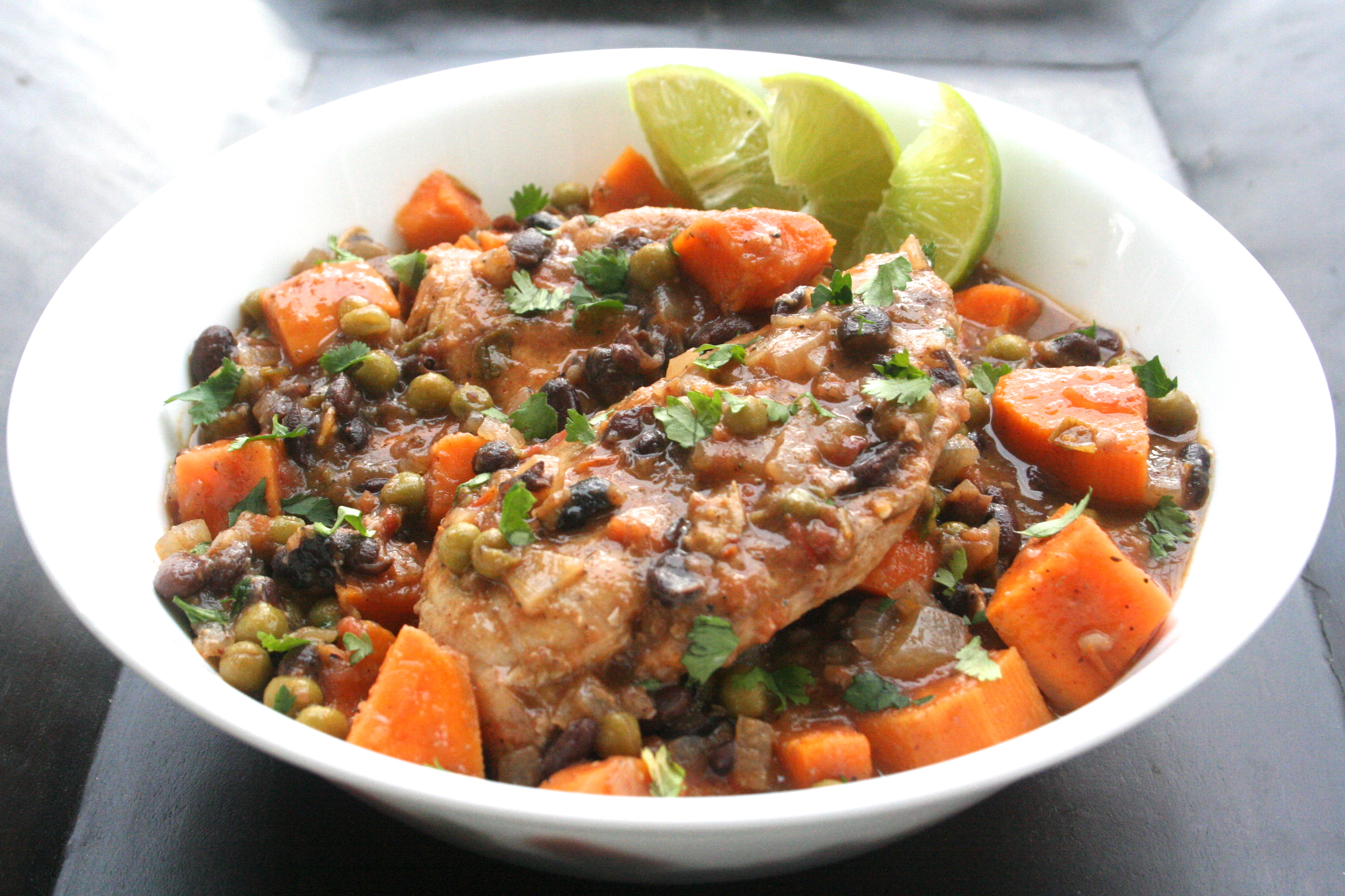 kick it in gear. [slow-cooker Latin chicken w. sweet ...