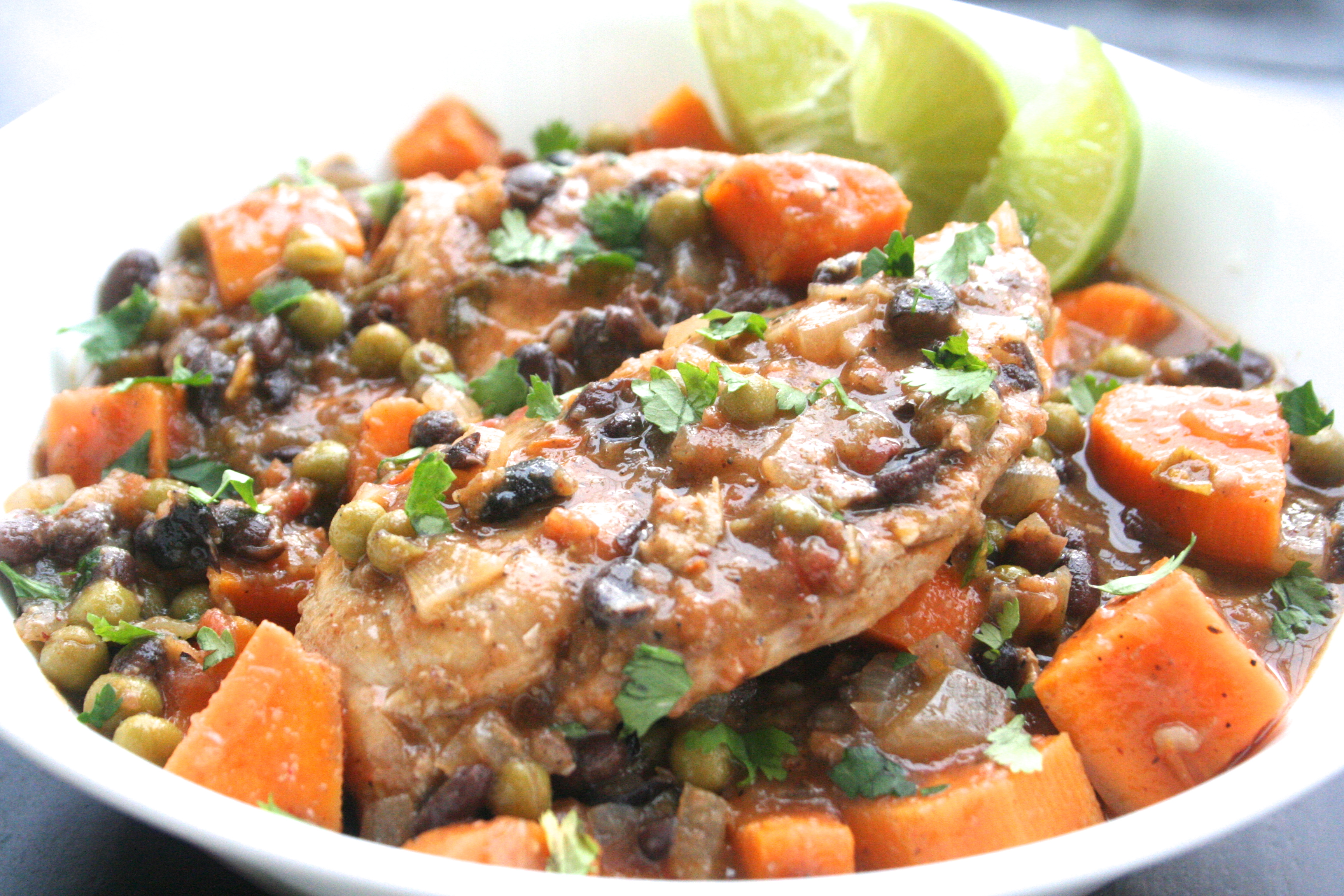 pics Slow-Cooker Latin Chicken with Black Beans and Sweet Potatoes
